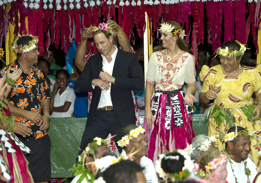 Prince William and Kate Middleton took the stage to dance with their hosts in Tuvalu.