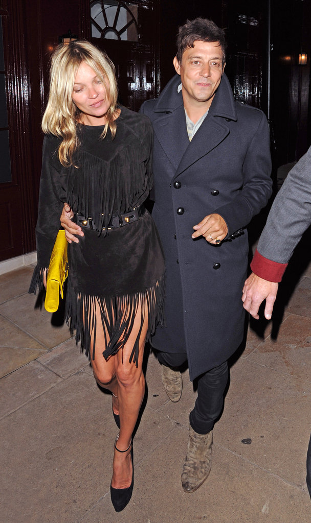 Kate Moss partied with Jamie Hince in London.