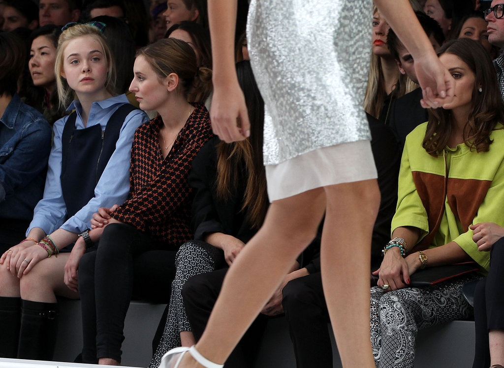 Elle Fanning was front row for Topshop Unique.