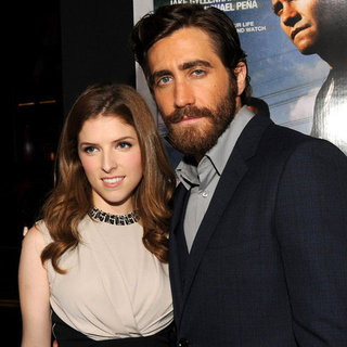 End of Watch LA Movie Premiere Celebrity Pictures of Jake Gyllenhaal, Anna Kendrick