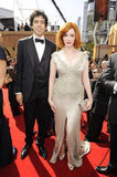 Christina Hendricks was joined by husband Geoffrey Arend in 2011.