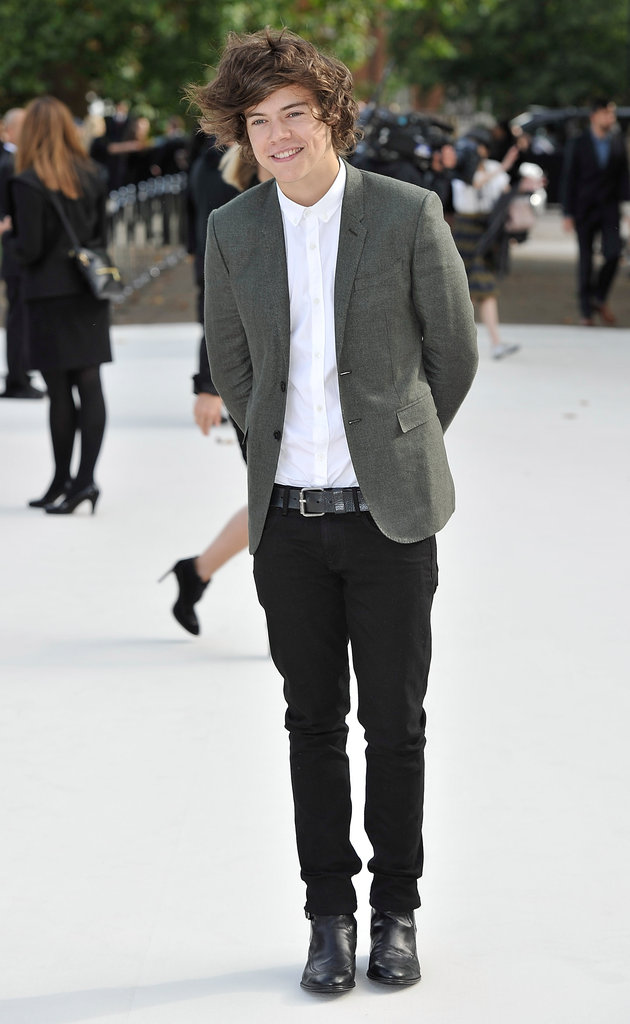 Harry Styles at Burberry