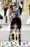 Sarah Jessica Parker loaded up the stroller.