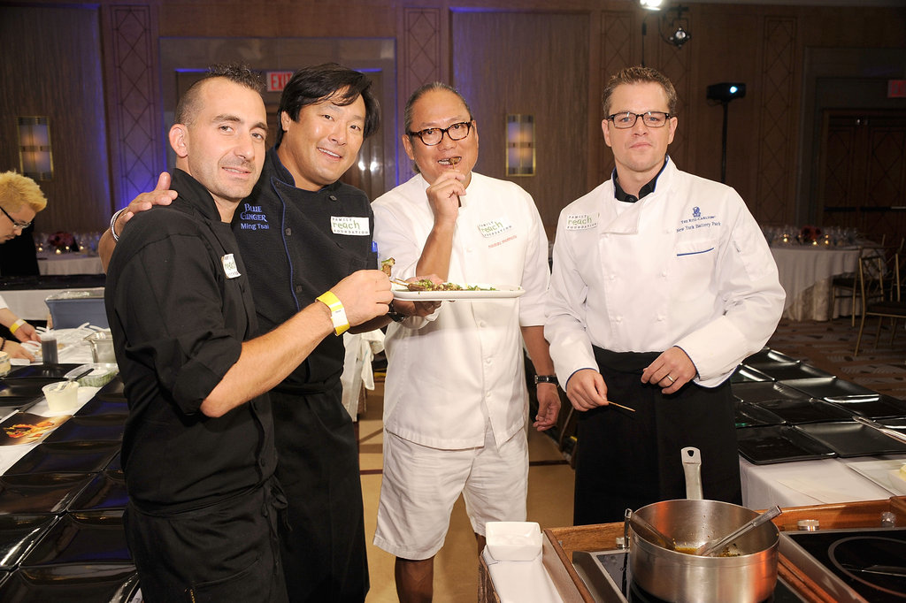 Chef Marc Forgione, chef Ming Tsai, chef Masaharu Morimoto, and Matt Damon got together for a good cause.