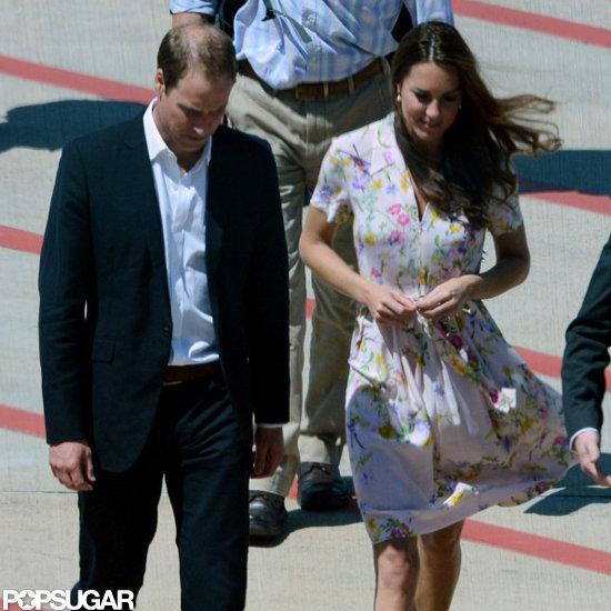 Kate Middleton and Prince William arrived in Brisbane.