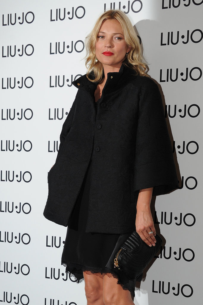 Kate Moss checked out a Liu Jo party.