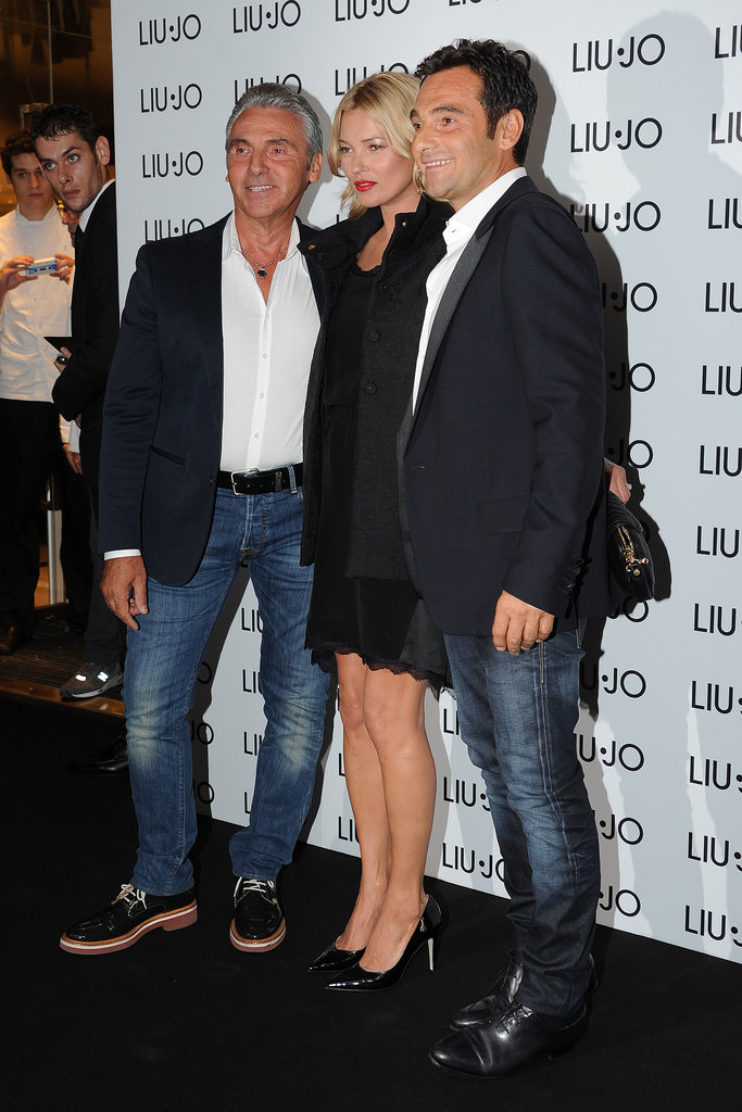 Marco Marchi, Kate Moss, and Vannis Marchi partied at a Liu Jo store.