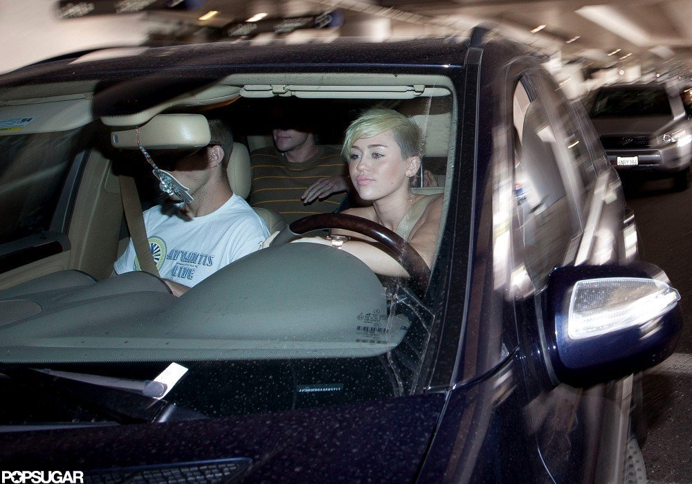Miley Cyrus dropped Liam Hemsworth off at LAX.