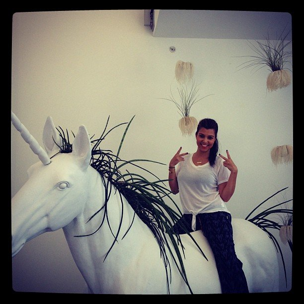 Kourtney Kardashian got carried away in Miami. Source: Instagram user kourtneykardash