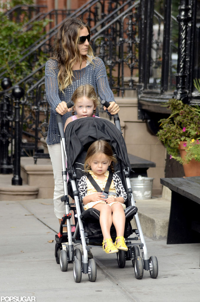 Sarah Jessica Parker gave the twins a lift.