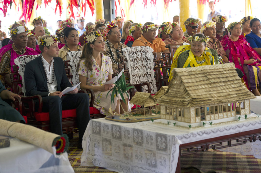 A goodbye ceremony was held for Kate Middleton and Prince William in Tuvalu.