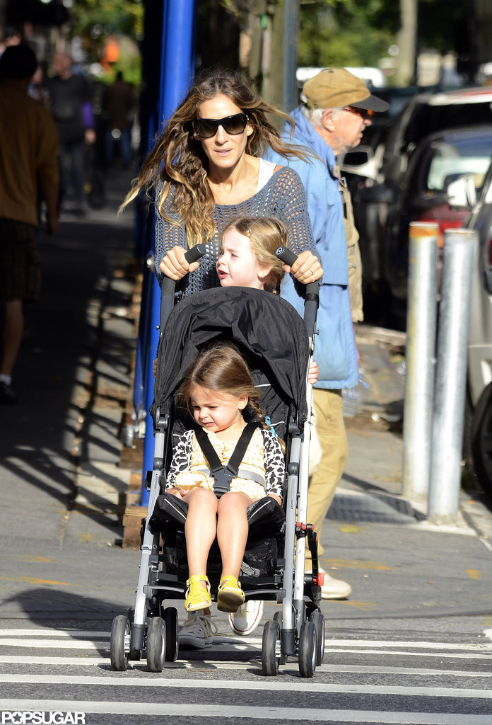 SJP Hits the Town With Her Twins and Designs For Obama