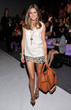 Olivia kicked off Fashion Week in NYC at Noon by Noor, sporting a cool, ladylike mix of embellishment and print. She outfitted a pair of leopard-print Tibi shorts with a Noon by Noor shell and finished it all off with Lulu Frost jewels, a Meli Melo bag, and studded Valentino heels. Shop the Look:   More 3.1 Phillip Lim...