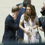 The Duchess wore her hair down and wavy.