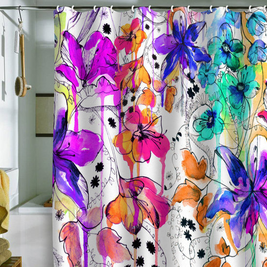 DENY Designs Holly Sharpe 'Lost In Botanica 1' Shower Curtain