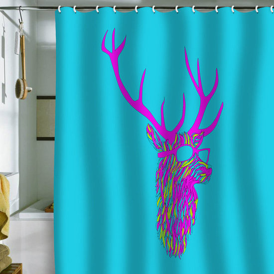 DENY Designs Robert Farkas &#039;Party Deer&#039; Shower Curtain