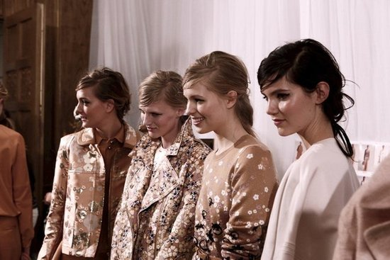 Pale Faces & Next-Day Eyes at Mulberry Spring 2013 London Fashion Week