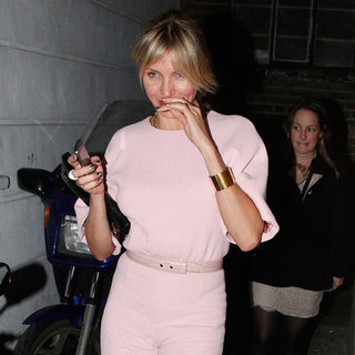 Cameron Diaz Wearing Pink Jumpsuit (Look For Less)