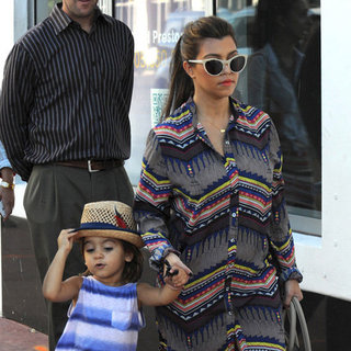 Kourtney Kardashian Printed Shirtdress