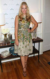 Busy Philipps wore a vintage dress with strappy sandals.