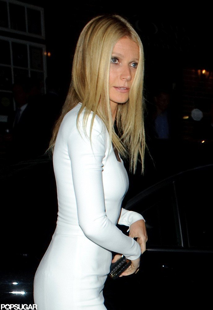 Gwyneth Paltrow wore a white Tom Ford dress for a London dinner party she co-hosted for President Obama.