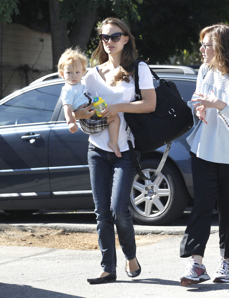 Natalie Portman walked through an LA parking lot.