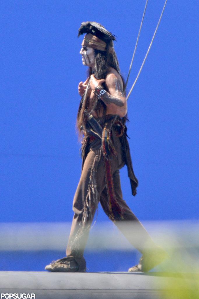 Johnny Depp was in LA making The Lone Ranger.