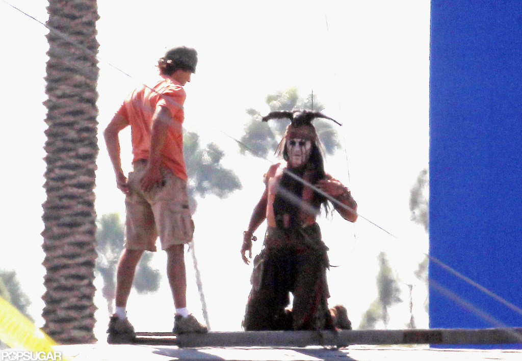 Johnny Depp was shirtless to shoot The Lone Ranger.