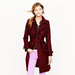 A gorgeous merlot-hued cashmere coat. 