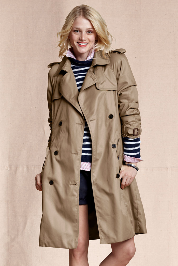 We love the slightly oversize shape — perfect for layering underneath — and the waterproof finish.  Land's End Heritage Trench ($140, originally $200)