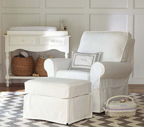 Pottery Barn Kids Comfort Swivel Glider