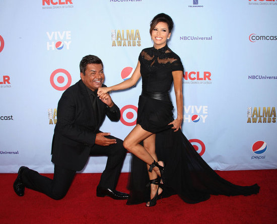 George Lopez and Eva Longoria horsed around at the 2012 ALMA Awards on September 16.