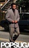 Leonardo DiCaprio buttoned his suit.