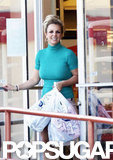 Britney Spears was all smiles as she walked out of the store.