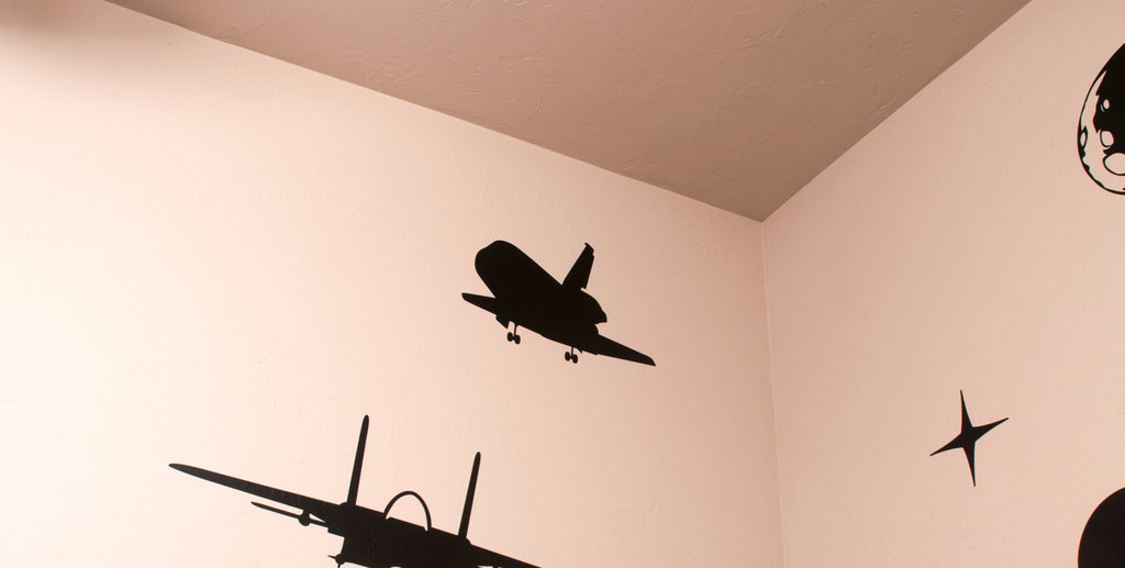 A Space Shuttle Wall Decal ($10) is made of a removable wall vinyl — perfect for a space party or as a gift for the aviation enthusiast in your life.