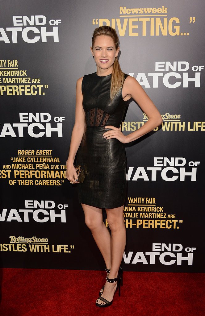 Cody Horn brought Jason Wu's Spring '13 leather and lace to the red carpet at the End of Watch premiere.