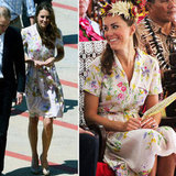 The Diamond Jubilee tour ended this week, and we haven't missed an outfit yet! We loved Kate's floral finish to the tour, as reported by our editors.