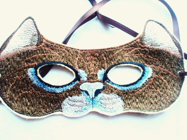 Felt Embroidered Cat Mask ($15)