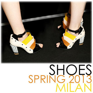 Best Spring 2013 Shoes | Milan Fashion Week Runways