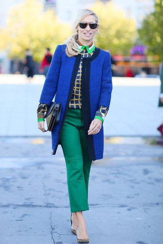 A lesson in embracing bold color and print — all at once.