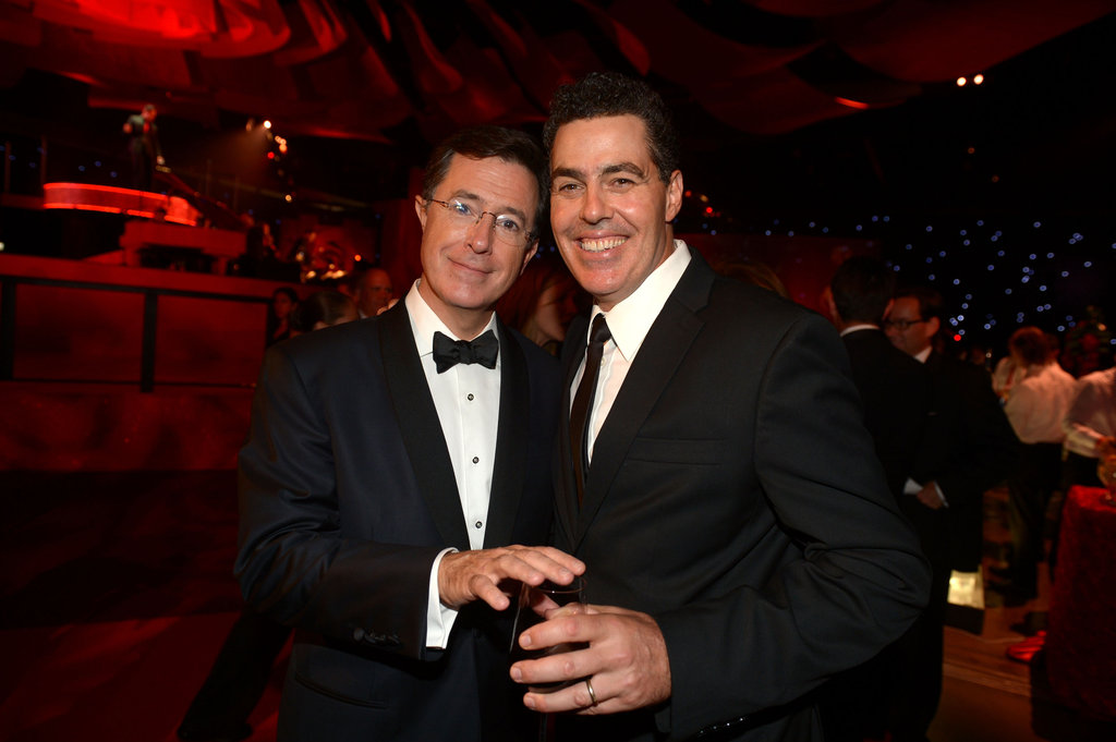 Stephen Colbert and Adam Carolla joked around at the Governors Ball.