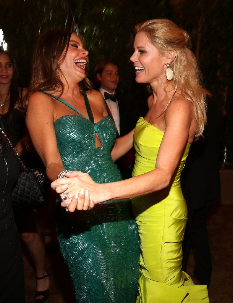 Modern Family costars Sofia Vergara and Julie Bowen laughed together after the show.