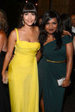 New Girl star Hannah Simone had her arm around Mindy Kaling.