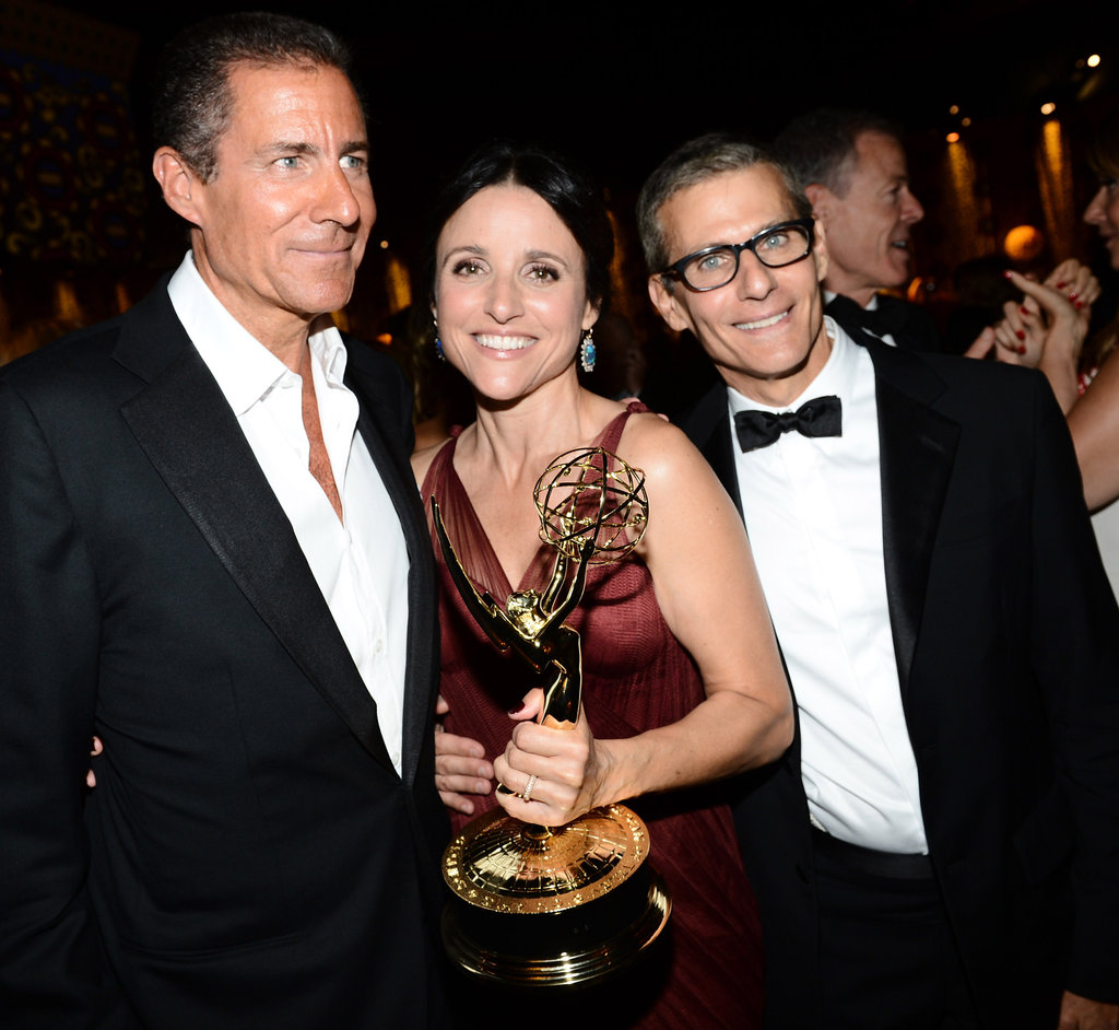Julia Louis-Dreyfus celebrated her Emmy win after the show.