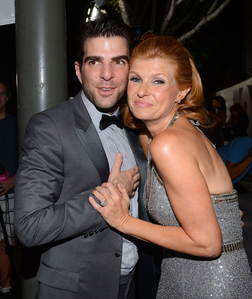 Zachary Quinto and Connie Britton posed together after the Emmys.