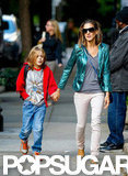 Sarah Jessica Parker took her eldest, James Wilkie Broderick, to school.