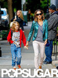 Sarah Jessica Parker and James Wilkie Broderick hit the pavement in Manhattan.