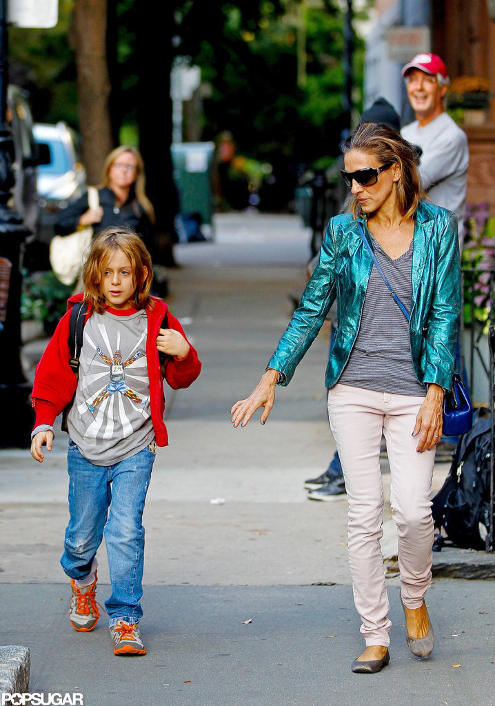 Sarah Jessica Parker took James Wilkie Broderick to class.
