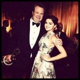 Ariel Winter posed with her Modern Family co-star Eric Stonestreet at Fox's Emmys after party. Source: Instagram user arielwinter