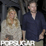 Jessica Simpson Goes Short For a Date Night With Eric and Friends